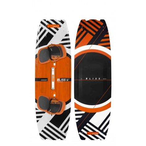 Kitesurf Rrd Tavola board Twintip BLISS V5 WOOD  black fiday 2018