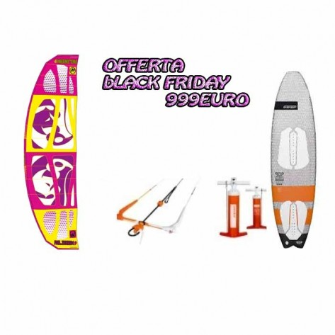 Pacchetto completo  wave Religion  MKV 8mt +Barra V7 + Boad+Pump PROMO 2017