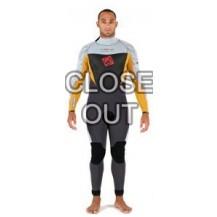 wetsuit Uomo back zip  Grado  5/3 Orang/silver XS