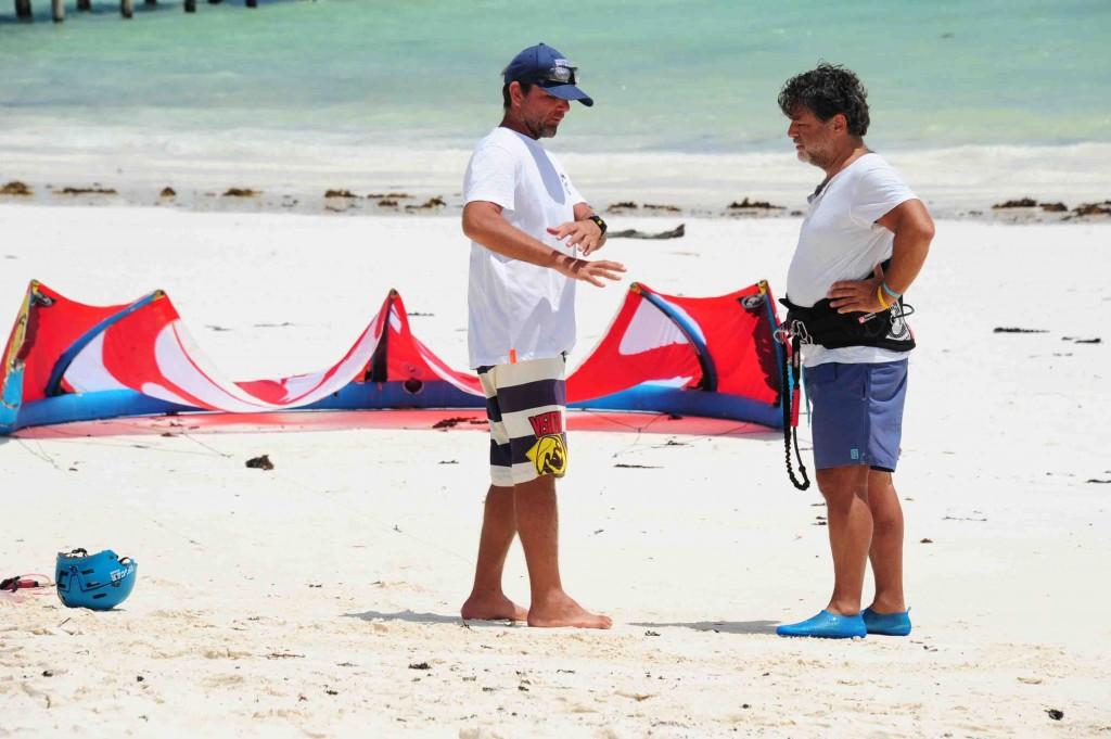 kitesurf lezione Iniziale spiegazione spot