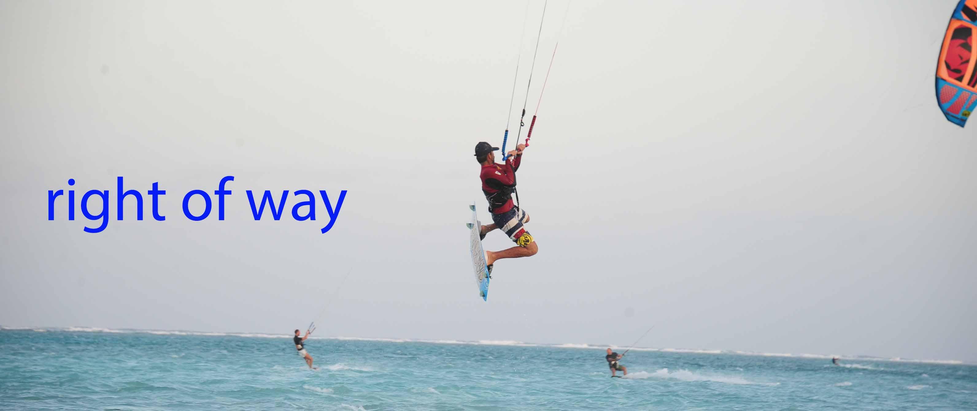 Kitesurf Diritto di precedenza Internazionali (Istruzioni per l'uso)