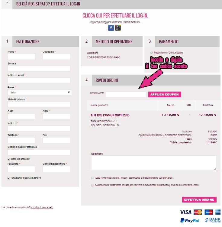 carrello-codice-sconto-kitesurf-buy-buyng-kite-kiteboads-dyscount-code-sale-save-money-risparmia-affare