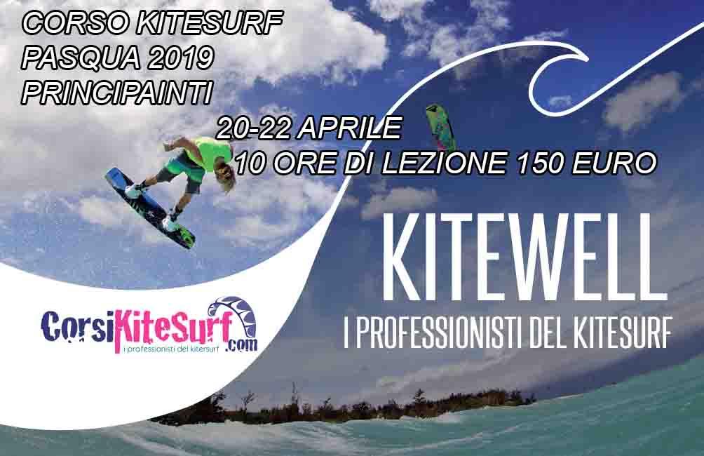 Pasqua 2019  Impara il Kitesurf da Sabato 20 a Lunedi 22 Aprile ** Toscana corso collettivo Kitesurf**