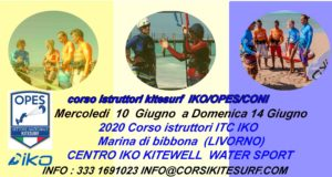 Corso Istruttori Kitesurf IKO  I.T.C. e First Aid dal  9  al  14  Giugno 2020